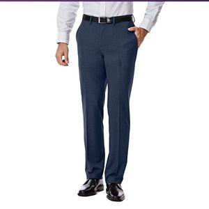 J.M. Haggar Slim-Fit Stretch Flat-Front  Pants